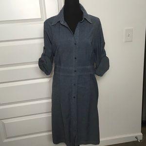 Merona chambray button down shirt dress size XL